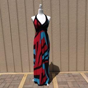 Body Central Halter Maxi Dress
